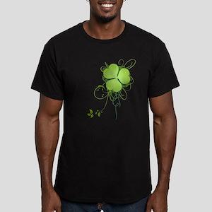 Shamrock [swirls] Men's Fitted T-Shirt (dark)
